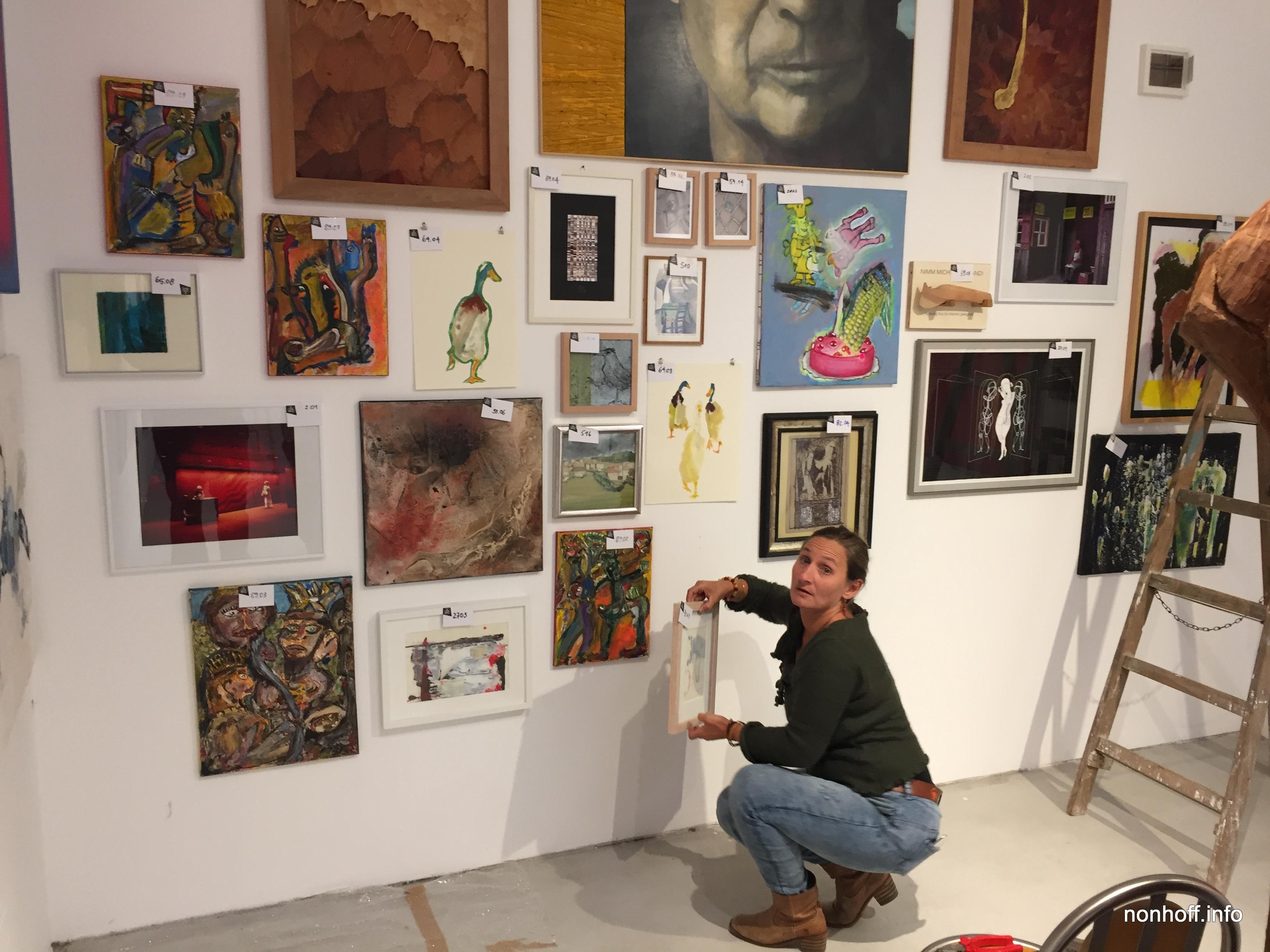 Ebersberger Jahresausstellung Aufbau